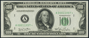 1950D $100 Federal Reserve Note Green Seal