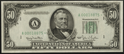 1950E $50 Federal Reserve Note Green Seal