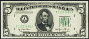 1950E $5 Federal Reserve Note Green Seal