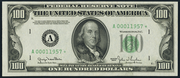 1950E $100 Federal Reserve Note Green Seal