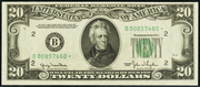 1950E $20 Federal Reserve Note Green Seal