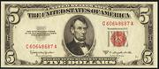 1953C $5 Legal Tender Red Seal