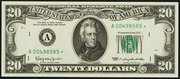 1963 $20 Federal Reserve Note Green Seal