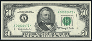 1963A $50 Federal Reserve Note Green Seal