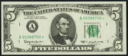 1963A $5 Federal Reserve Note Green Seal