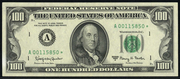 1963A $100 Federal Reserve Note Green Seal