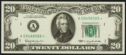 1963A $20 Federal Reserve Note Green Seal