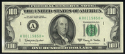 1969 $100 Federal Reserve Note Green Seal