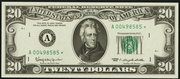 1969 $20 Federal Reserve Note Green Seal