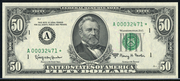 1969A $50 Federal Reserve Note Green Seal