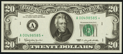 1969A $20 Federal Reserve Note Green Seal