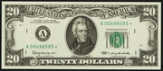 1969B $20 Federal Reserve Note Green Seal