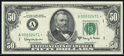 1969C $50 Federal Reserve Note Green Seal