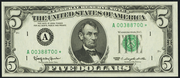 1969C $5 Federal Reserve Note Green Seal