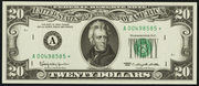 1969C $20 Federal Reserve Note Green Seal