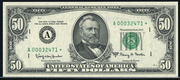 1974 $50 Federal Reserve Note Green Seal