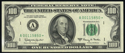 1977 $100 Federal Reserve Note Green Seal