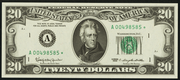 1977 $20 Federal Reserve Note Green Seal