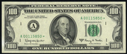 1981A $100 Federal Reserve Note Green Seal