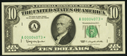 1981A $10 Federal Reserve Note Green Seal