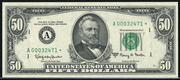 1985 $50 Federal Reserve Note Green Seal