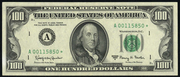1985 $100 Federal Reserve Note Green Seal
