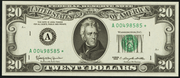 1985 $20 Federal Reserve Note Green Seal
