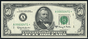 1988 $50 Federal Reserve Note Green Seal
