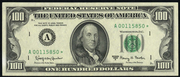 1988 $100 Federal Reserve Note Green Seal