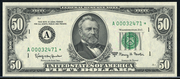 1990 $50 Federal Reserve Note Green Seal