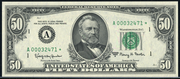 1993 $50 Federal Reserve Note Green Seal