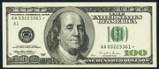 1996 $100 Federal Reserve Note Green Seal