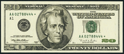 1996 $20 Federal Reserve Note Green Seal