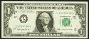 1999 $1 Federal Reserve Note Green Seal