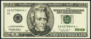 1999 $20 Federal Reserve Note Green Seal