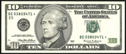2001 $10 Federal Reserve Note Green Seal