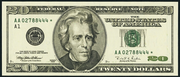 2001 $20 Federal Reserve Note Green Seal
