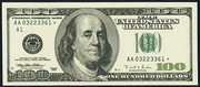 2003 $100 Federal Reserve Note Green Seal