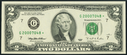 2003 $2 Federal Reserve Note Green Seal