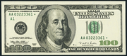 2003A $100 Federal Reserve Note Green Seal