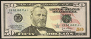 2004 $50 Federal Reserve Note Green Seal