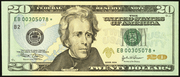 2004 $20 Federal Reserve Note Green Seal