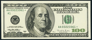 2006 $100 Federal Reserve Note Green Seal