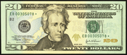 2006 $20 Federal Reserve Note Green Seal