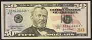 2009 $50 Federal Reserve Note Green Seal