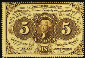 1862 First Issue 5 Cent Notes Fractional Currency