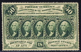 1862 First Issue 50 Cent Notes Fractional Currency