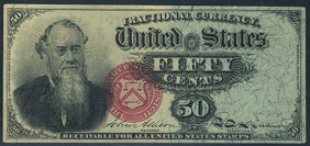 1863 Fourth Issue 50 Cent Notes Fractional Currency 2