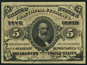 1863 Third Issue 5 Cent Notes Fractional Currency
