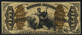 1863 Third Issue 50 Cent Notes Fractional Currency 2